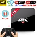 H96 Pro Intelligent Andorid TV BOX 7.1 OS Set top box 3 gb 16gb 32 gb amlogic S912 Octa core 2.4g/5 ghz WiFi BT4.0 4k T95Z Plus