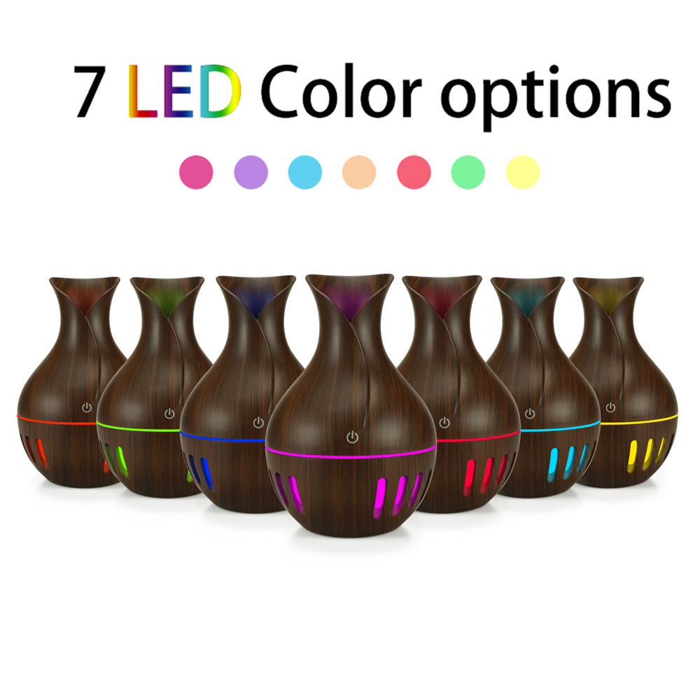 usb air humidifier 130ml Aroma Essential Oil diffuser 7 Color Changing LED lights car mini Aromatherapy machine home office