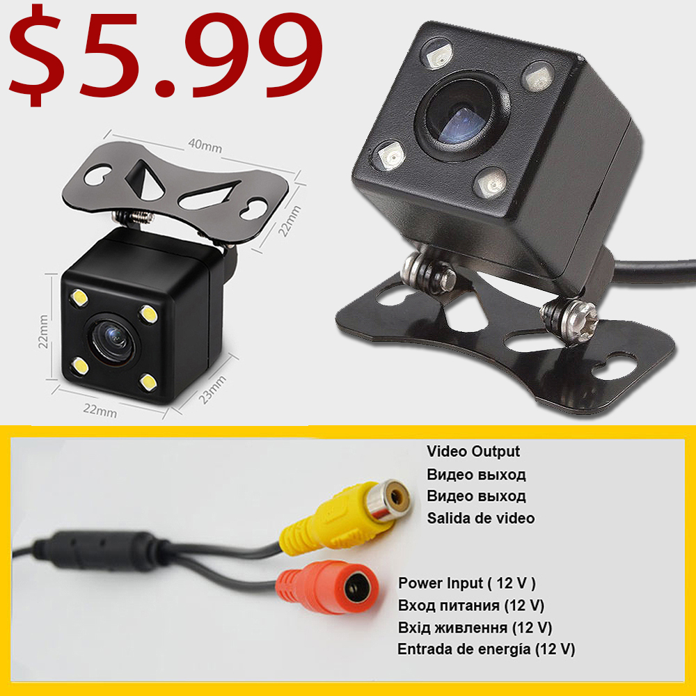Rhythm Car Reverse Backup Parking Camera Night Vision Car Rearview Camera Car Park Monitor Mini Car Rear View Camera