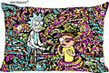 rick and morty Printed Pillowcase Soft Pillow Cover 45x35cm(One Side) Custom Rectangle Zipper Pillow Cover