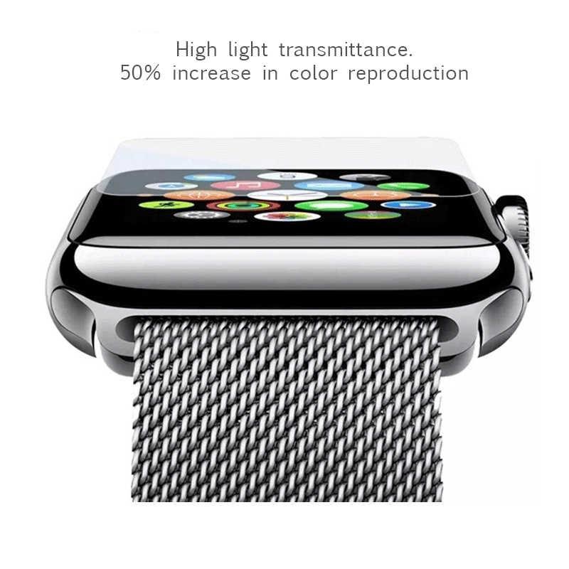 2.5D 9 H Gehard Glas Voor Apple Horloge Serie 1 2 3 38 42mm Screen Protector Beschermende Film Voor iwatch 42mm Ultra Dunne Glas