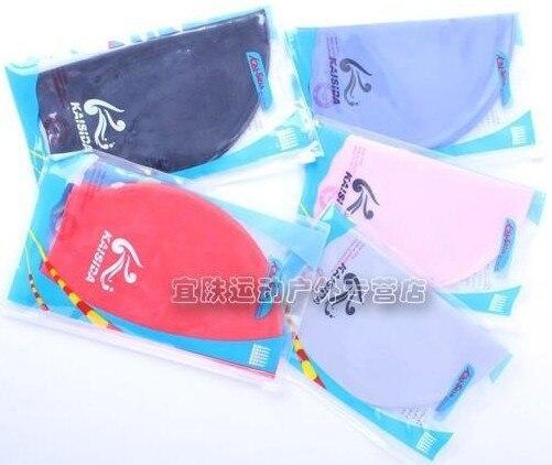 2013 bribed ear swimming cap rubber waterproof male women's 7
