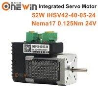 52W NEMA23 Integrated Servo Motor 4000rpm24v 0.125N.m iHSV42 40 05 24