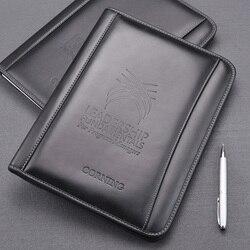 A4 натуральная кожа, деловая, для офиса, сумка менеджера органайзер для файлов, папок держатель конференции согласования соглашение папки 754B