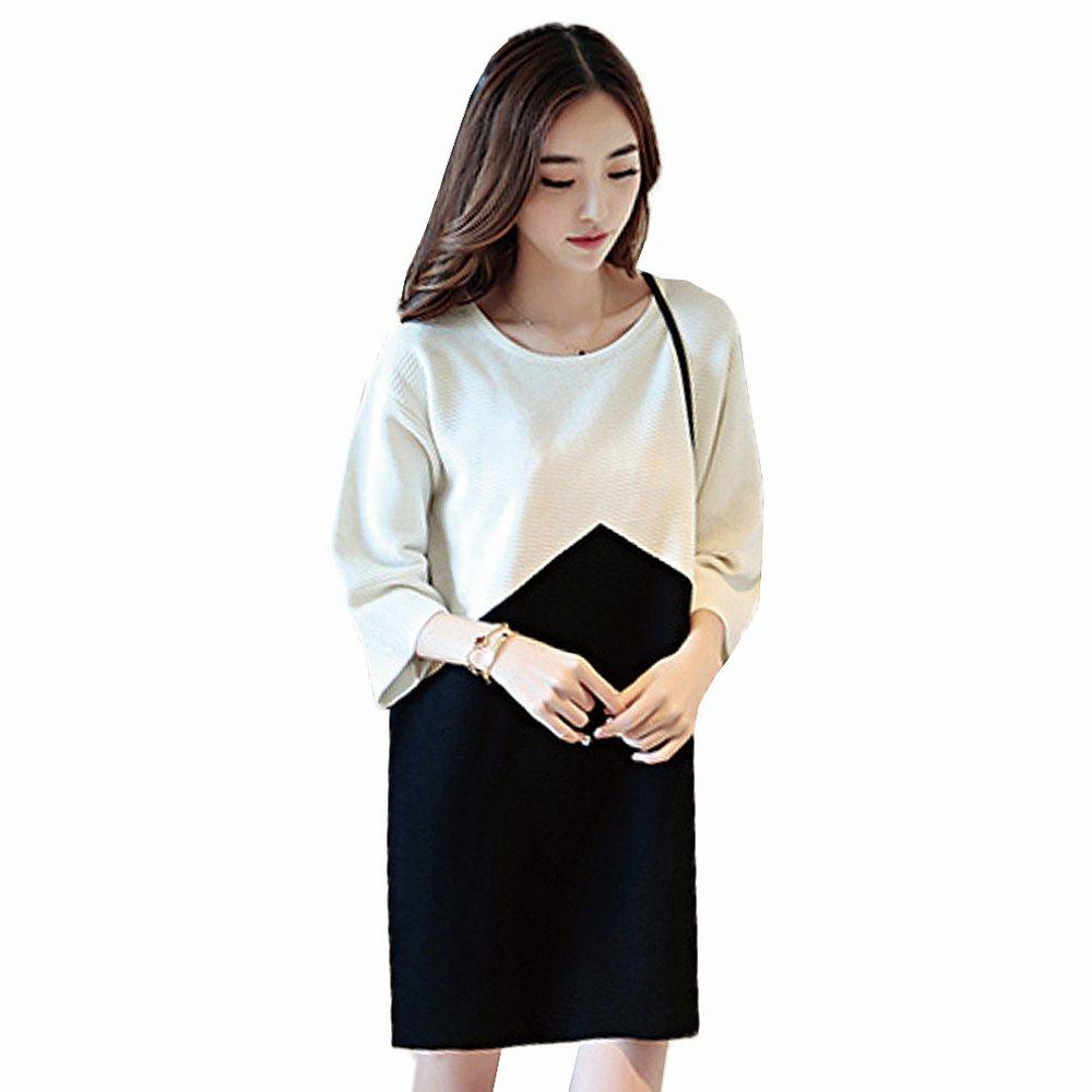 Online get cheap elegant plus size pregnancy dresses aliexpress hot sale knitted cotton maternity dresses autumn maternity clothes loose casual pregnancy dress elegant dresses plus ombrellifo Image collections