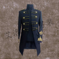 fashion men costume long jacket Male royal costume clothes costumes for singer dancer star performance nightclub bar singer