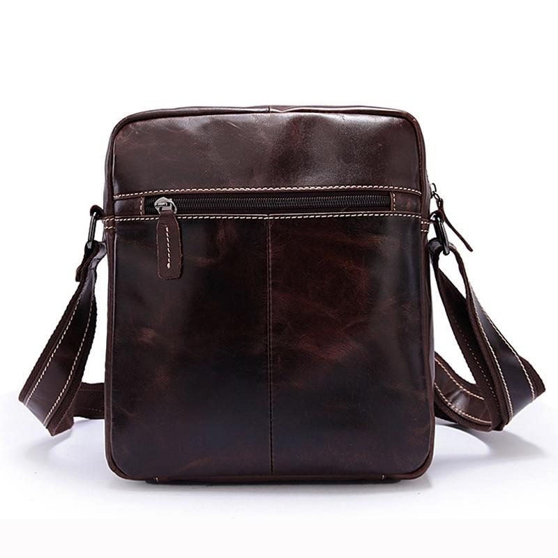 MVA Lelaki Bahu Beg Kulit Asli Lelaki Beg Vintage Crossbody Bags - Beg tangan - Foto 3