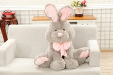 new plush rabbit toy lovely cartoon long ears rabbit doll gift about 70cm