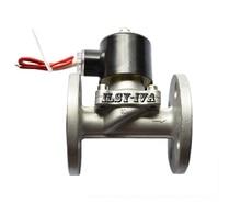 G3/4 AC220V SS304 Stainless steel flange solenoid valve dn80 stainless steel ss316l raised face 4 bolt slip on flange industrial
