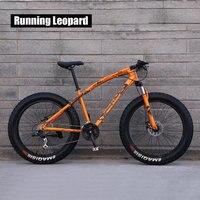 Запуск Leopard 7/21/24 Скорость 26x4,0 жира велосипед горный велосипед снег велосипедов ударной подвеска вилка бесплатная доставка в России bicicleta