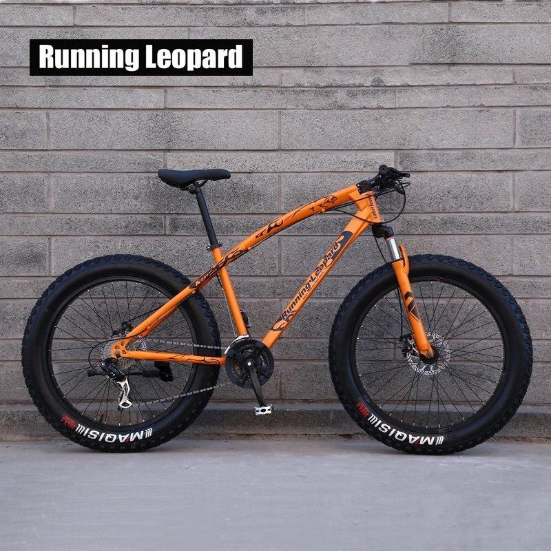 Courir Leopard 7/21/24 Vitesse 26x4.0 Graisse de vélo De Montagne Vélo de Neige Vélo Choc Fourche à Suspension livraison gratuite en Russie bicicleta