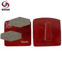 RIJILEI Wholesale 30PCS Trapezoid Metal Bond Redi-lock diamond grinding plates Concrete Grinding Shoes disk floor polishing L50