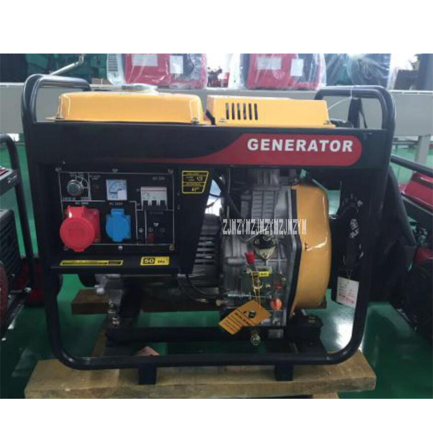 New HQ5GF 5KW Diesel Generator Set High-quality Single/Three Phase Air-cooled Diesel Generator 220V/380V 50Hz 456ml 5(kw/kva) pipo x9 8 9 inch windows10 android4 4 dual boot mini pc tablet