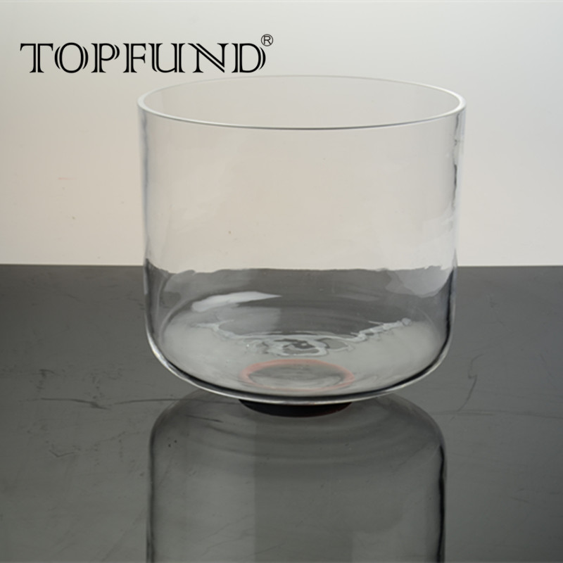 TOPFUND C# Note Adrenals Clear Chakra Quartz Crystal Singing Bowl 8 With Free Mallet and O Ring