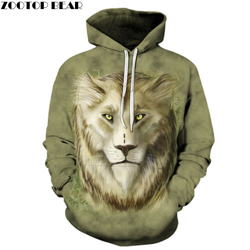 Lion Sweatshirts Men Women Hoodies Anime Tracksuit 3D Printing Pullover Animal Hoody Fashion Coat Hip Hop Drop Ship ZOOTOP BEAR