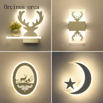 Postmoderno minimalismo sombra pared lámpara sala de estar pasillo dormitorio mesita de noche personalidad creativa animal LED lámpara de pared
