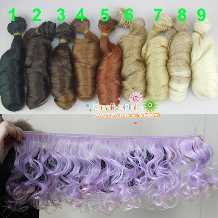 Free shipping SD Doll Wigs/hair diy High-temperature Wire Curly wave natural color bjd Wigs free shipping high quality new design 15 short curly wave blonde wigs for middle aged women with free cap
