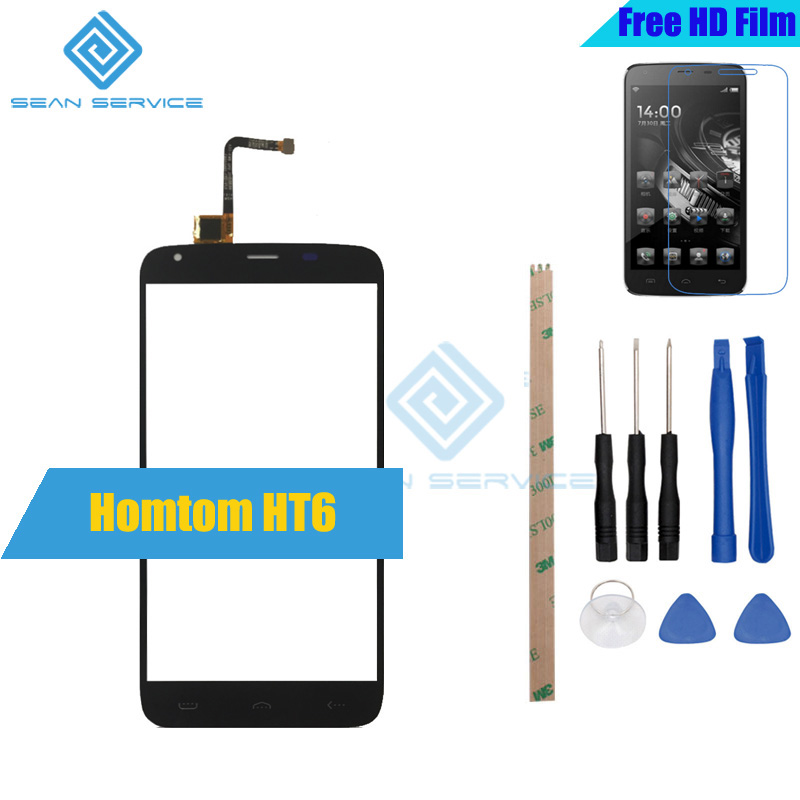For Original Homtom HT6 Touch Panel Perfect Repair Parts +Tools T6 5.5 Inch Glass Panel Touch Screen Digitizer stock