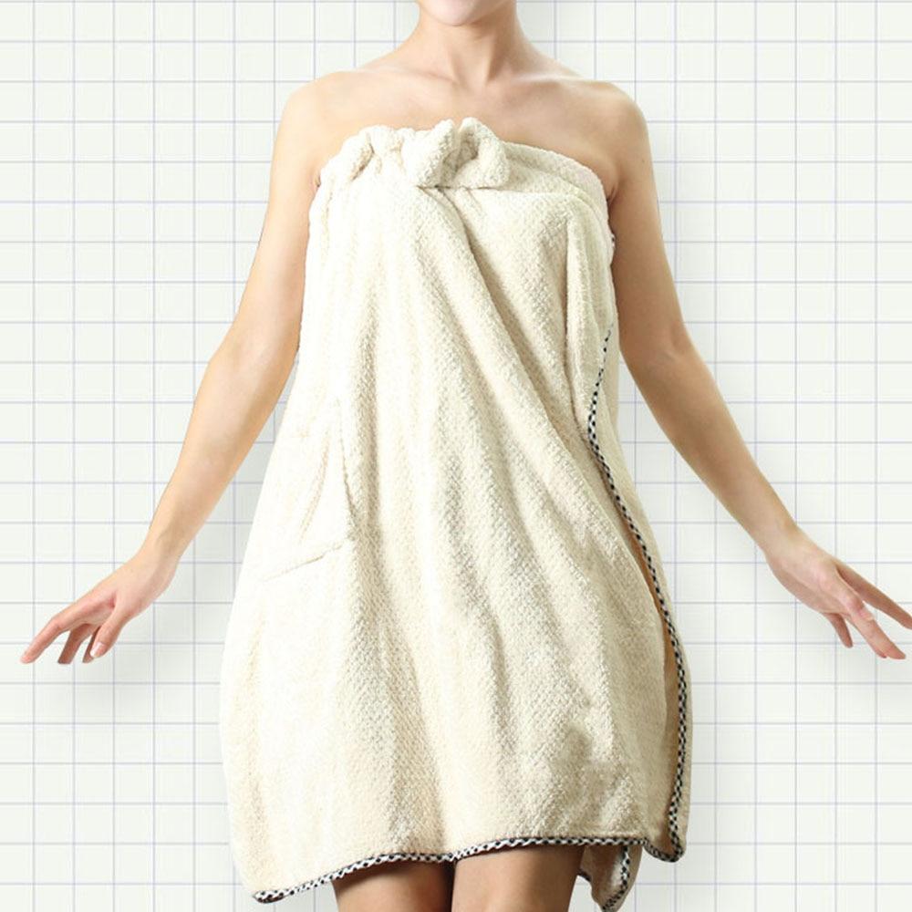 Women Microfiber bath Towel Super Absorbent Bath Towel Quick Drying Beach Towels Robe Bathrobe Body Spa Bow Wrap Bath Gown 1pc in Bath Towels from Home Garden