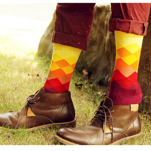 Gradient Color Men's Socks