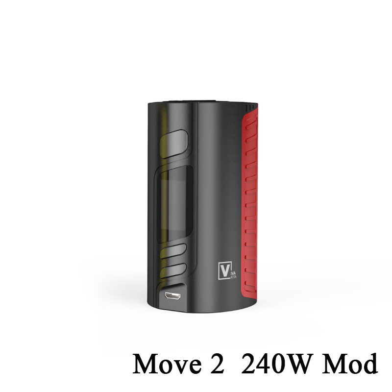 GIFT Vapor MOVE 2 Bypass 240W VW TCR Mod Temperature Control Box Mod Fit 510 Thread Tank Vape Electronic Cigarette Fashion