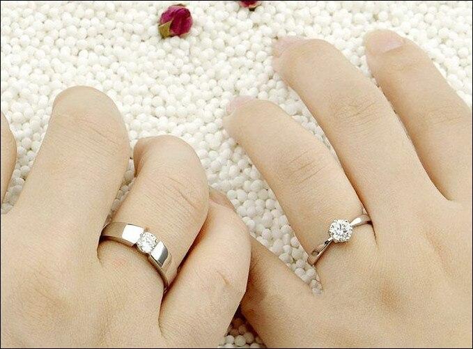 Designer Forever Love Wedding Rings Pair Couple Rings Men Jewelry