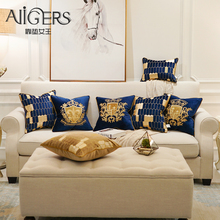 Avigers Embroidery Velvet Cushion Cover Luxury European Pillow Cover Gold PillowCase Geometry Home Decorative Sofa Throw Pillow цены