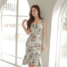 2 Piece Set Women Suit 2017 Summer Casual Print vest Blouse Shirts Tops and Bandage Sheath Mermaid Skirt Crop Top and Skirt Set