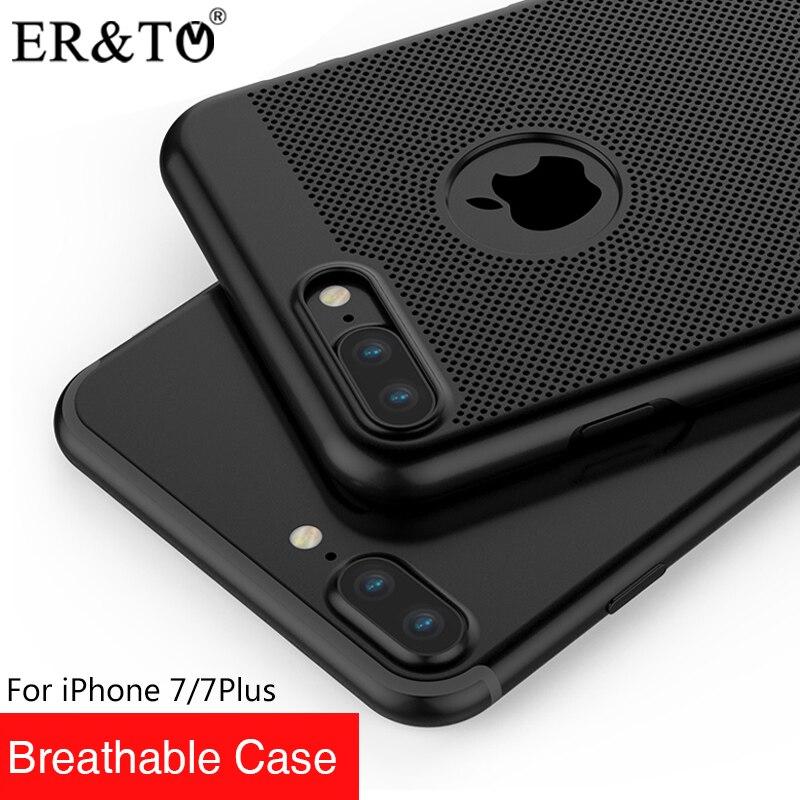 ER & T Transpirable Cajas Del Teléfono Móvil Para iPhone 7 Plus 7 casos 4 Colore