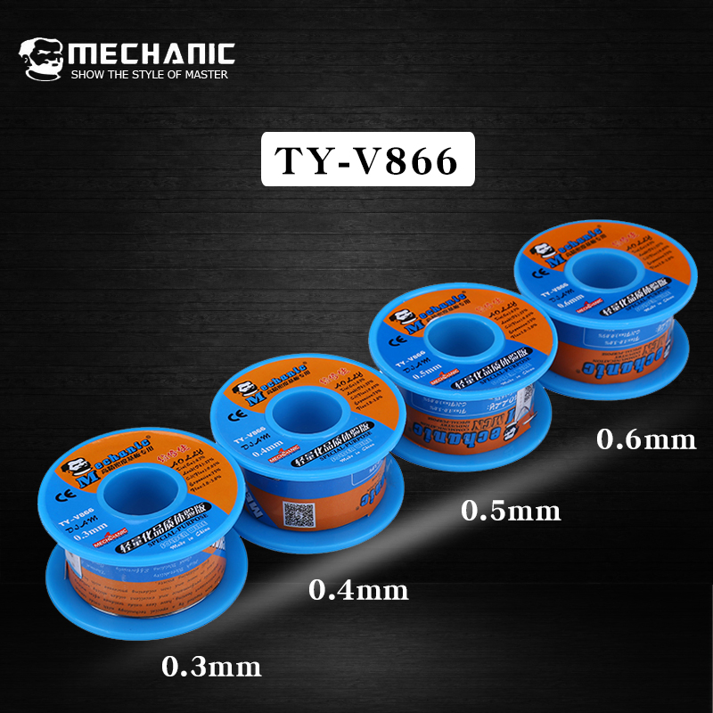 Original Mechanic Solder Wire 0.3mm 0.4mm 0.5mm 0.6mm Rosin Core Low Melting Point Soldering Tin PCB Welding Tools