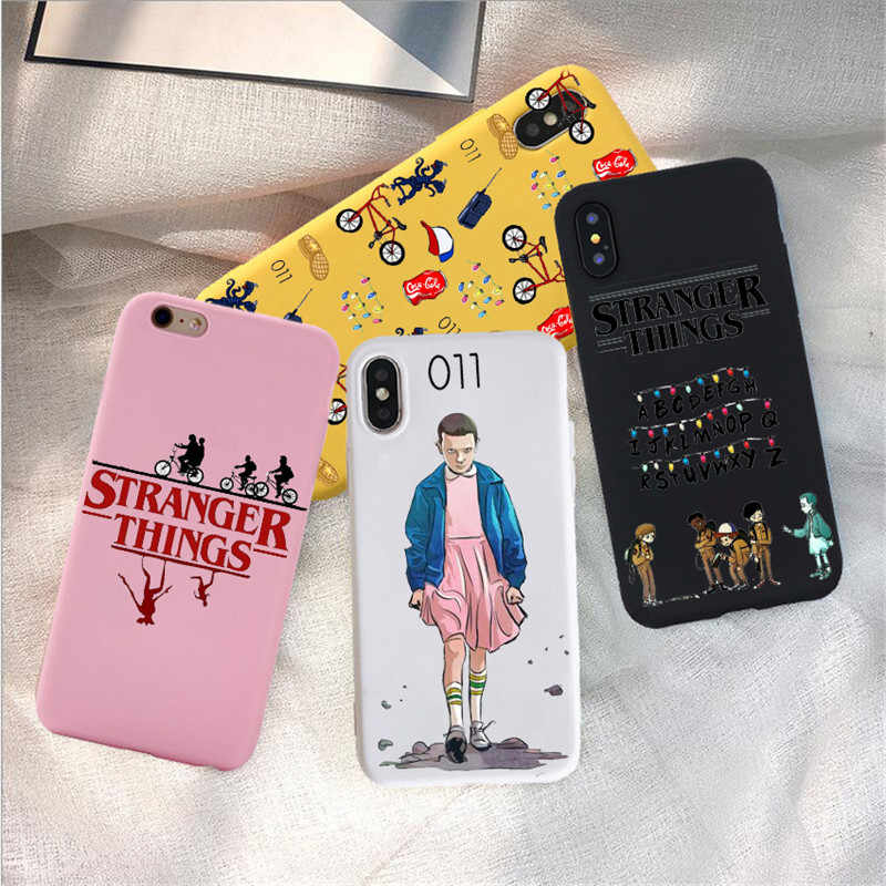 Stranger Things Christmas Lights Case For iphone 7 6S 8 Plus X 5S SE Soft Matte rainbow silicone Phone Cases Back Funda Cover