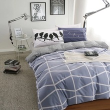 Spring fresh and simple bedding set cotton bed linen