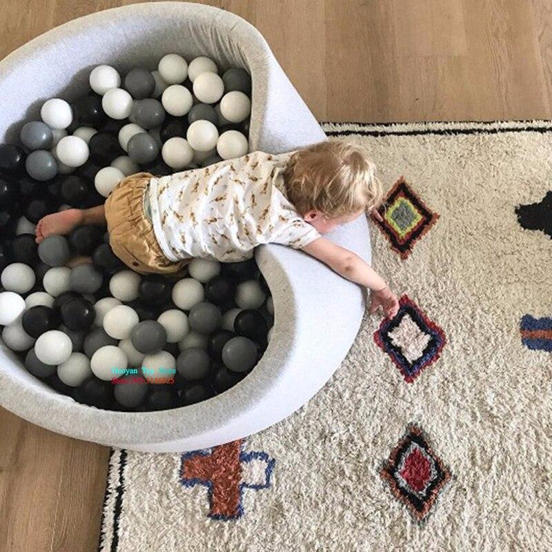2018 nouveau bébé océan piscine à balles fosse enfant escrime Manege tente gris sec piscine parc pour enfants pliable jeu bébé cadeaux de naissance