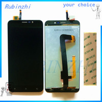 RUBINZHI With 3M Moible Phone LCDs For Cubot Note S LCD Display Screen With Touch Screen Assembly Complete