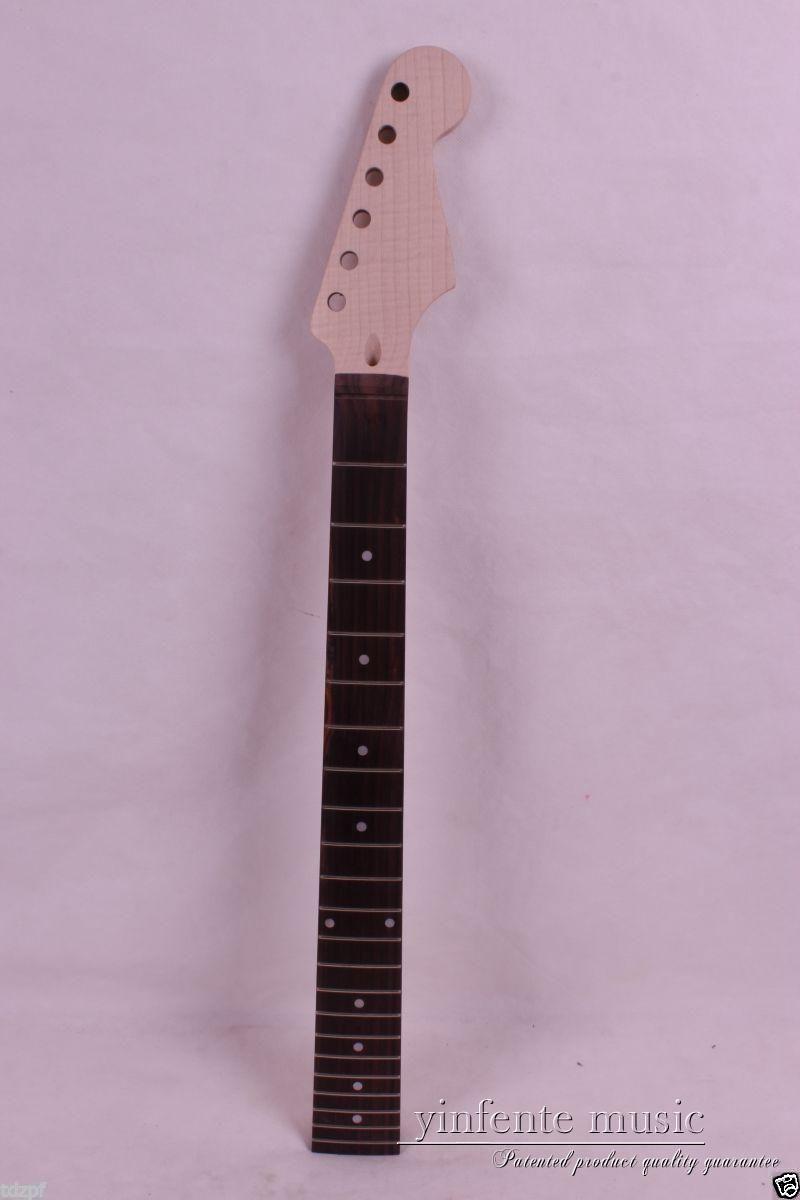 Electric Guitar Neck Flame Maple Rose Wood Fretboard 22 Fret 25.5