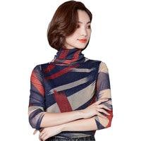 bts Autumn Winter Women Plus cashmere Big Yards T shirt 2017 New Thicker Korean Female Shirt Unicorn Elegant Femme Crop top W72