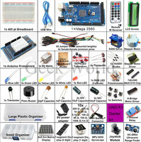 Starter Kit Mega 2560 Breadboard And Holder Step Motor Servo 1602 LCD Jumper Wire Suit With