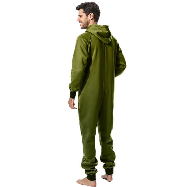 Men Zipper Onesie Autumn Thicken Fleece Hooded Jumpsuit Streetwear Jumpsuit Hoodies Winter One-piece Overalls X9121 4