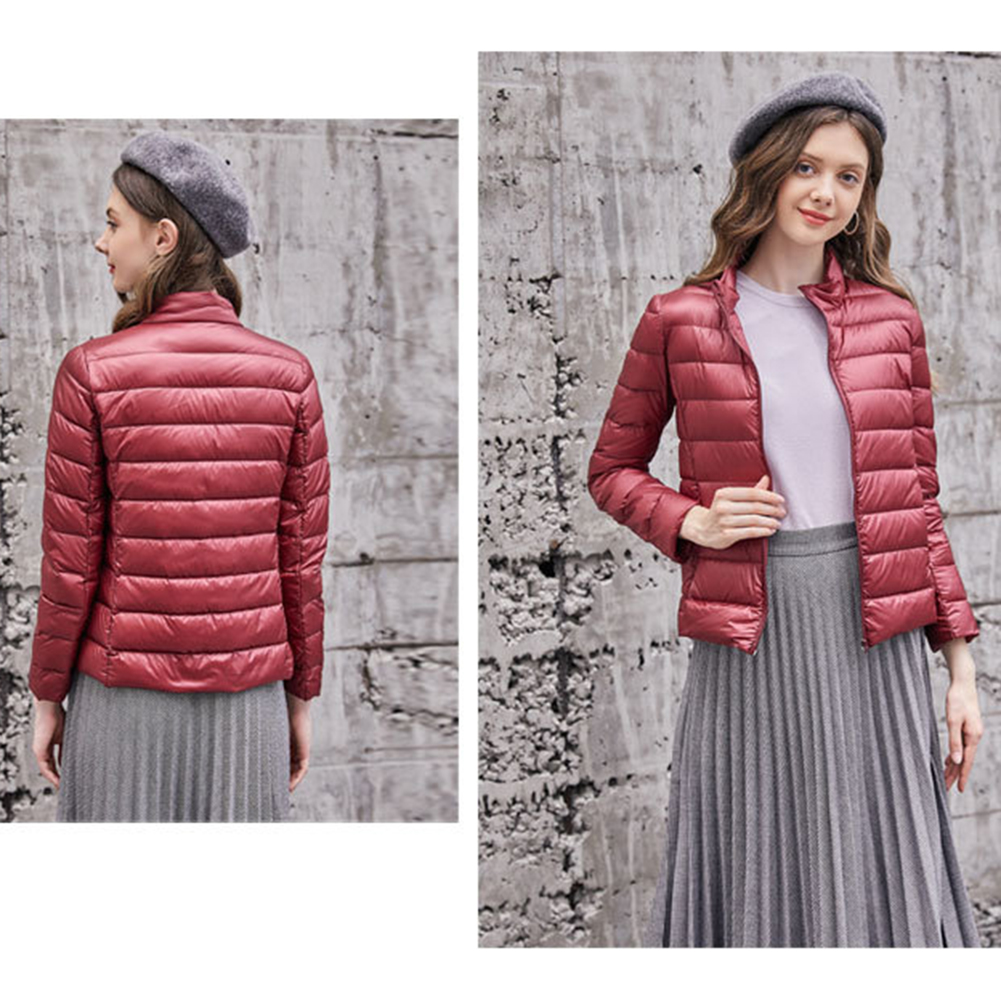 S-Xxl 2018 New Womens Feather   Coat   Winter Warm Lady Quilted Padded Bubble Velvet Light Warm Puffer White Duck   Down     Coat   Jackets