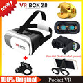 Google Cardboard VR BOX 2.0 Version VR Virtual Reality 3D Glasses Goggles VR Helmet+Bluetooth Wireless  Remote Control Gamepad