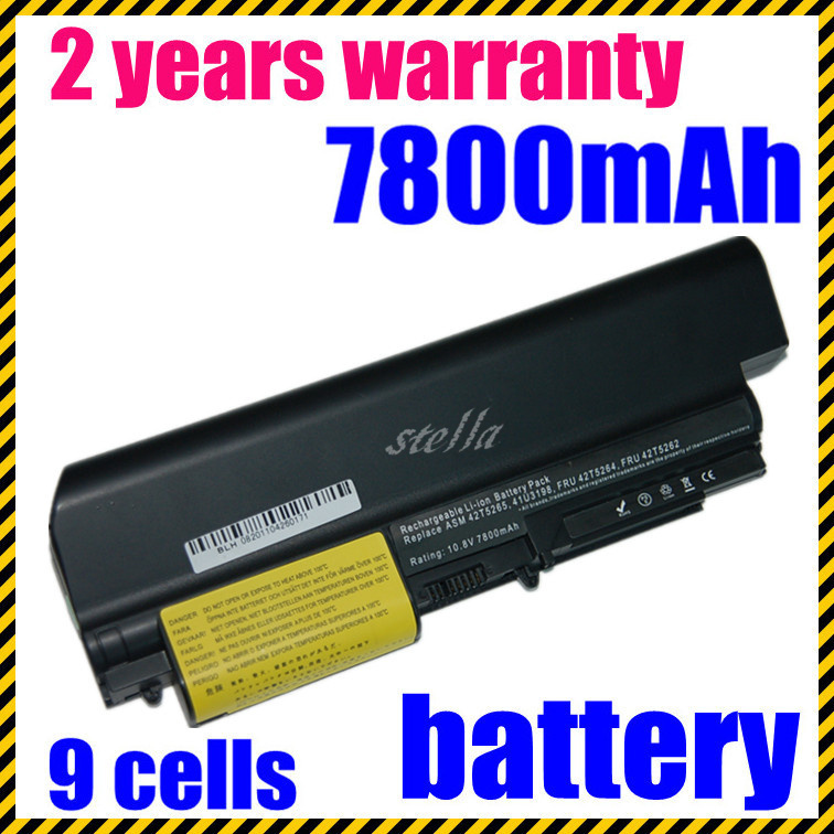 JIGU High Quality  Laptop Battery For IBM/Lenovo ThinkPad T61 T61p R61 R61i T61u R400 T400 Black
