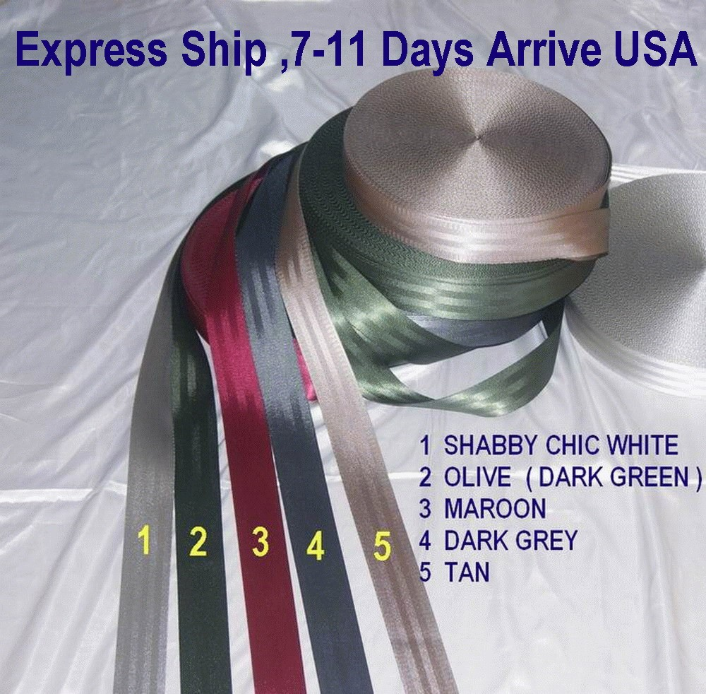 15 meters Roll Seat Belt Webbing Safety Strap Maroon Color 48mm Wide 5 Bars