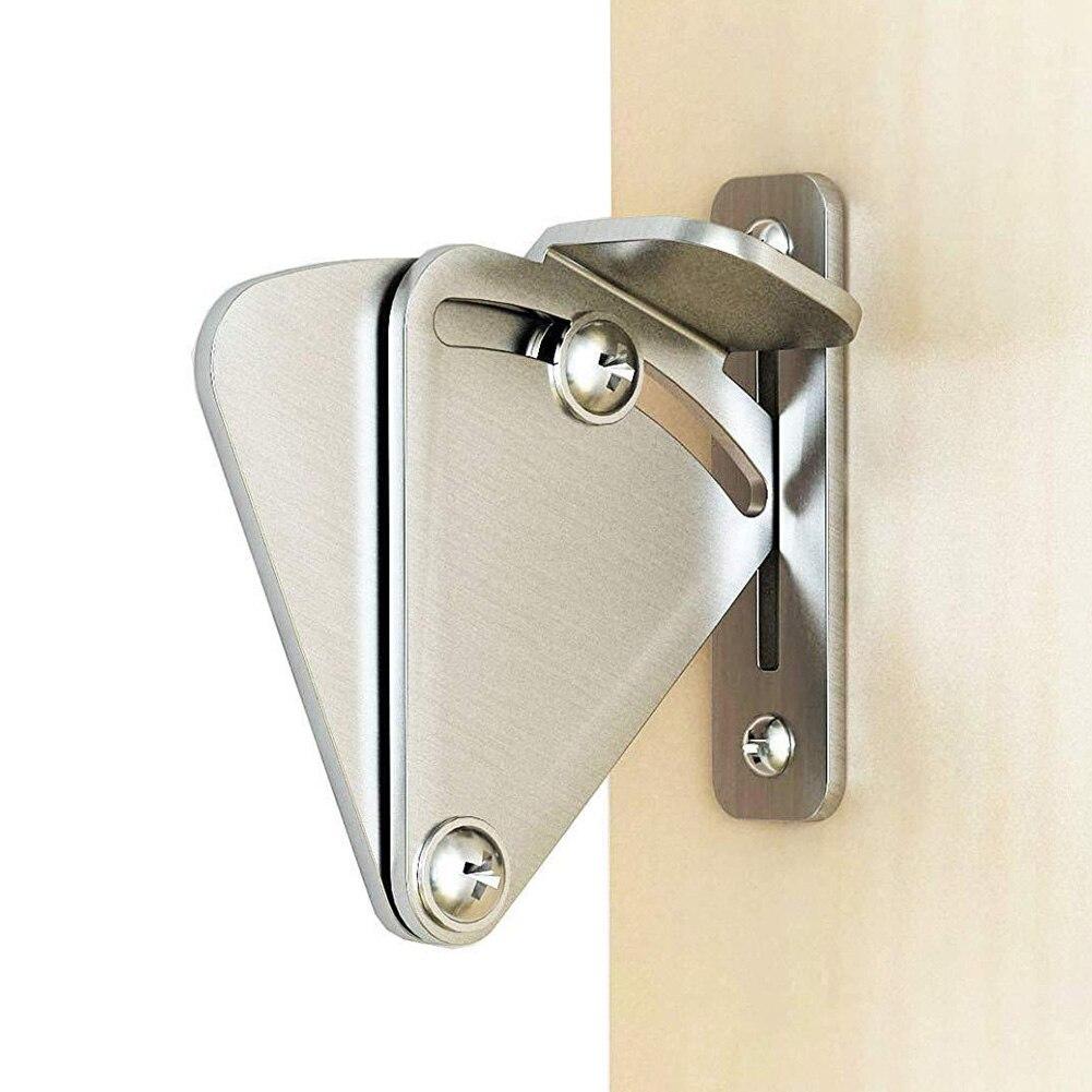 One Set Stainless Steel Lock For Sliding Barn Door Wood Latch Gate Doors Easy DIY 2019 Hot Sales