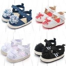 2019 Infant Baby Girls Shoes First Walkers Princess Flower Soft Sole Toddler Baby Summer Shoes Prewalker