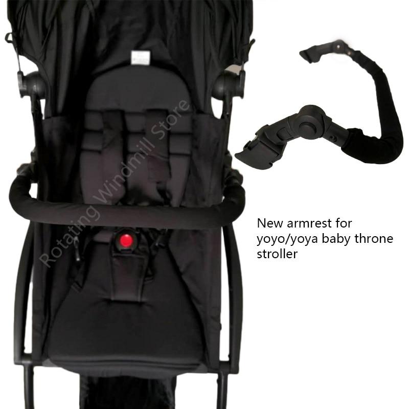 цена на Baby Stroller Armrest Hard Front Handrail Oxford Cloth Adjustable Bumper Bar For Yoya Yoyo Babytime Stroller Accessories