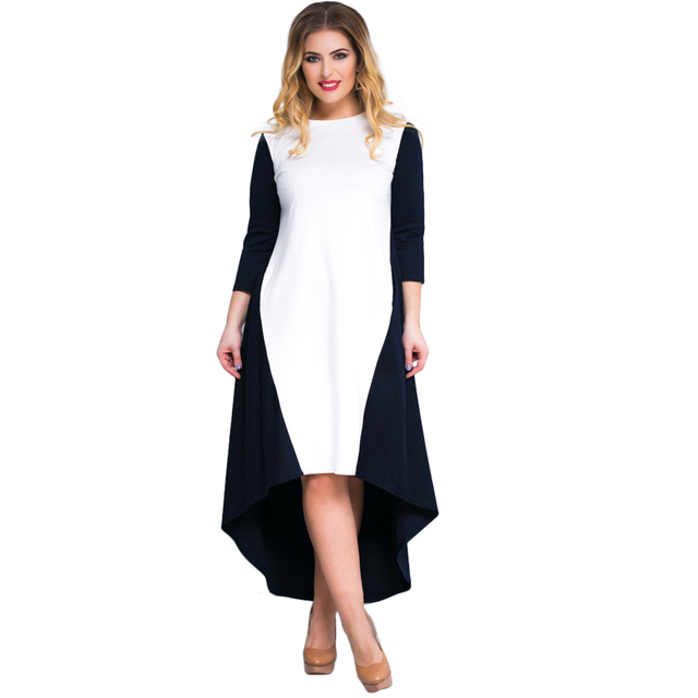 42c98eda1b6 2018 Ukraine Plus Size Women Dress Brown Long A-Line Loose Dress Big 5XL  6XL Casual Winter Dress White Party Maxi Dress Vestidos