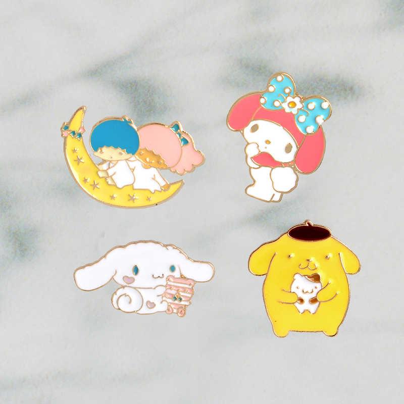 日本アニメかわいいかわいいバニー子犬マイメロディエナメルピン襟 Hat ラペルピン日本漫画ジュエリーアクセサリー