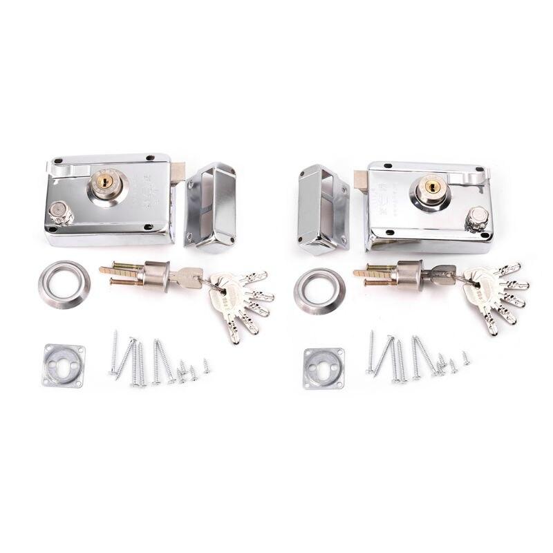 Exterior Door Lock Kit Security Anti-theft Locks With Multiple Insurance Exterior Door Lock Kit Security Anti-theft Locks With Multiple Insurance