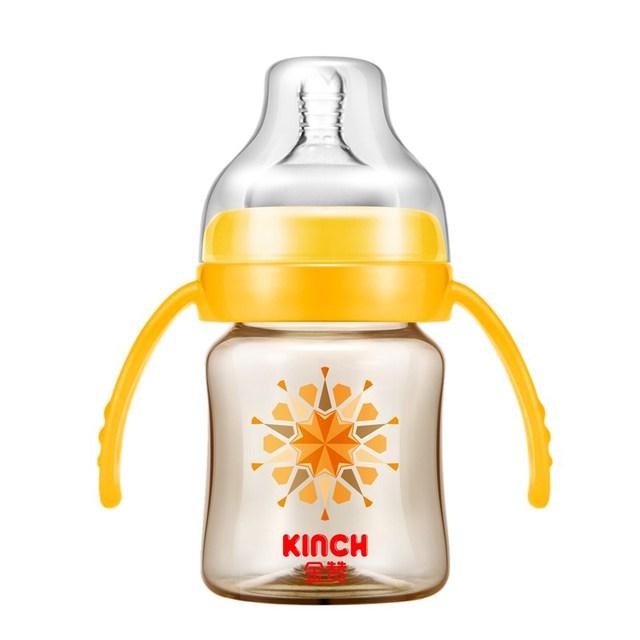 Alimentador de Garrafa Bpa Livre Bebê Parágrafo Automático de Fluxo Médio Único Carregado Sólida Em Forma de Cabaça-Garrafas de Bebê Garrafas de Vidros Para bebidas