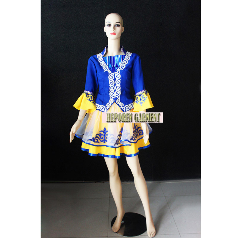 High Quality Custom Made Woman Russian National Costumes,Traditional Performance Folk Dancing Dresses For Lovers Free Shipping